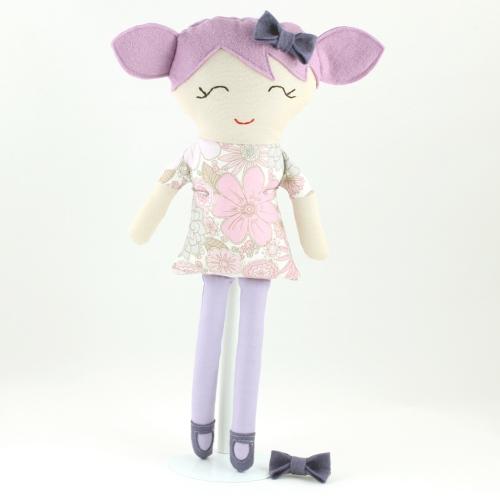 Violet rag doll