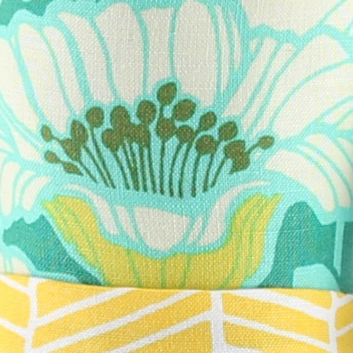 teal green flower fabric