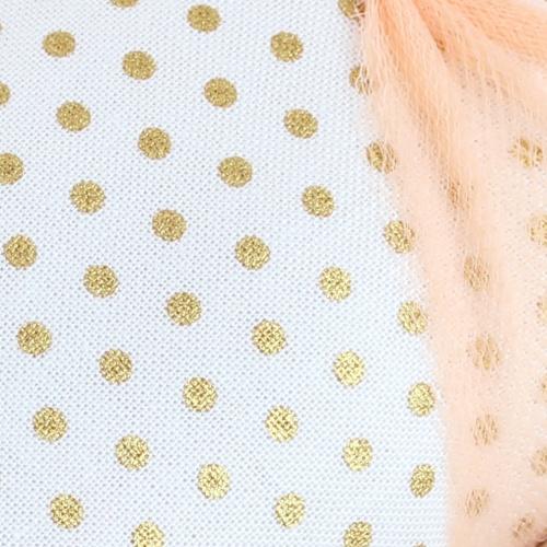 gold dot fabric